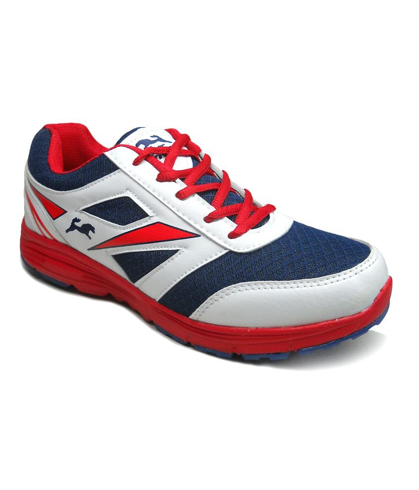 Fast Trax Red And White Mens Sports Shoes