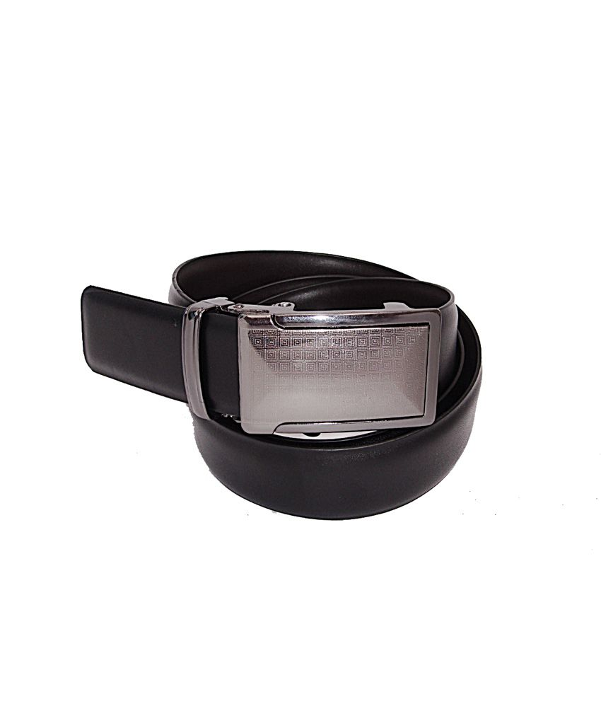 Sfa Silver Non Leather Formal Autolock Buckle Belt