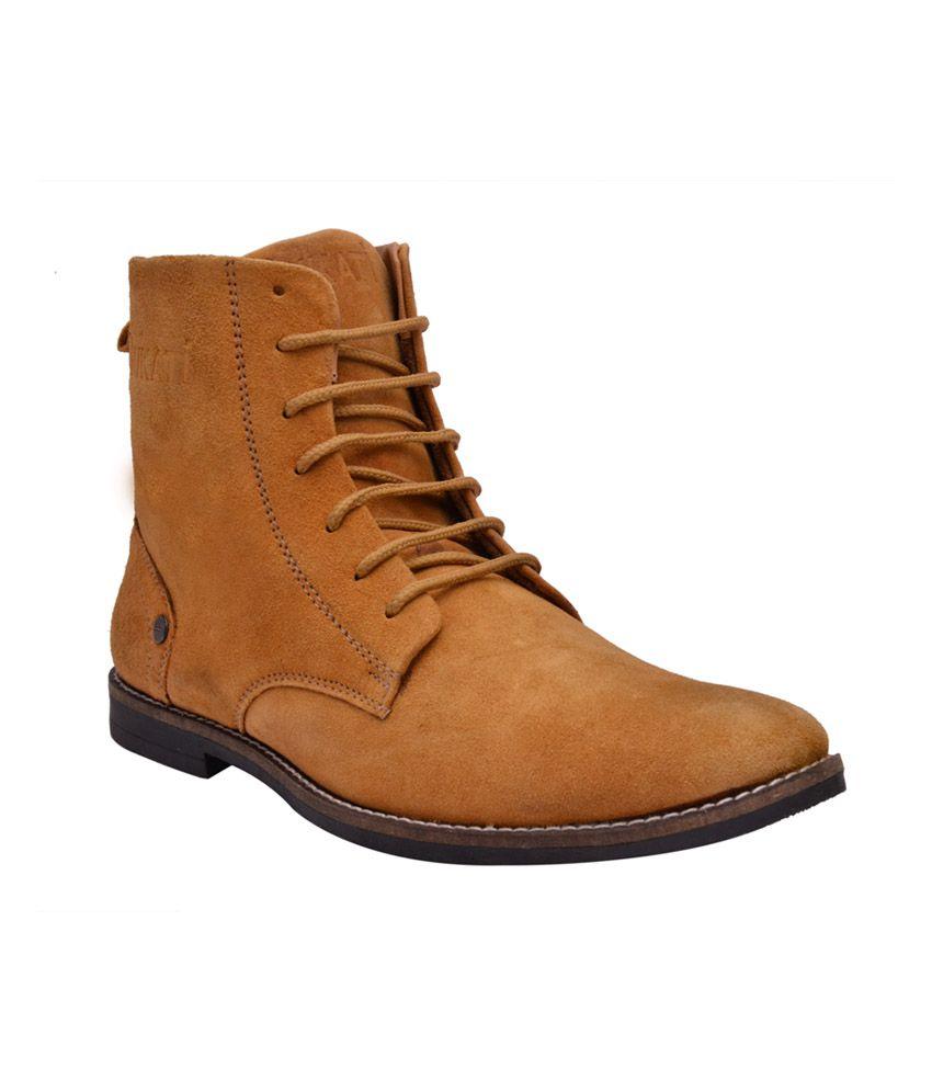 Sir Corbett Tan Suede Leather Designer Boots