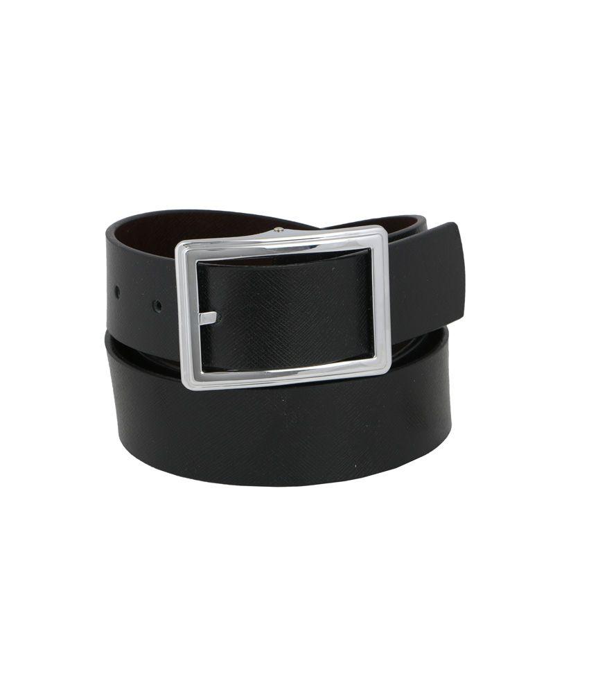 Vinson Massif Fresco Black-brown Reversible Soft Leather Belt