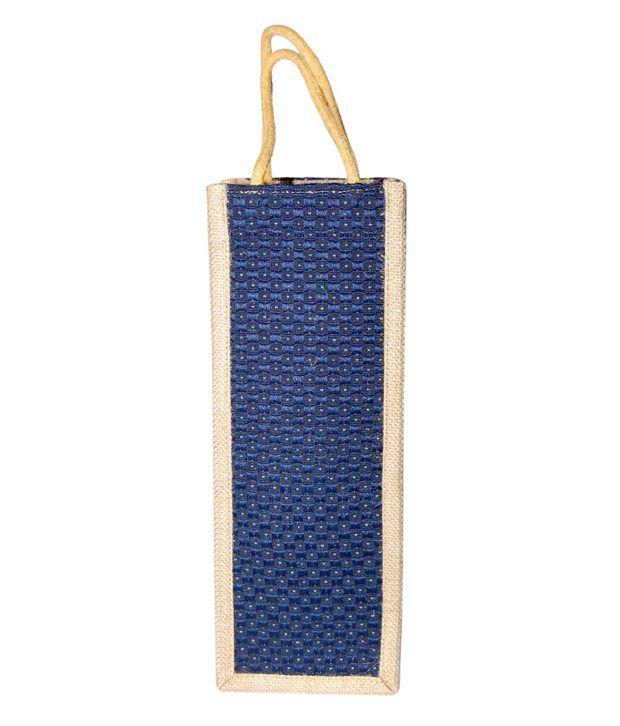 East India Blue Jute Shoulder Bag