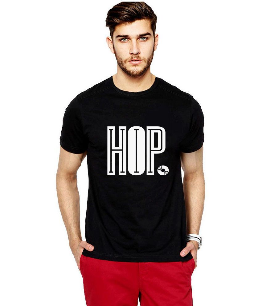 iLyk Men's  Hip Hop. Printed Black T-Shirt