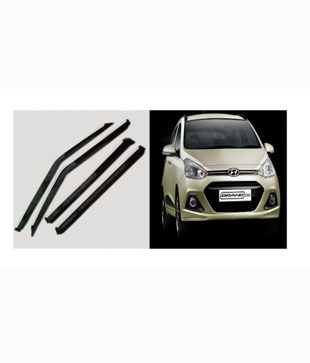 Autokraftz Chrome Garnish Door rain sun Visors For Hyundai Grand I10  Buy  Autokraftz Chrome Garnish Door rain sun Visors For Hyundai Grand I10 Online  at Low ... 1ca7980c197
