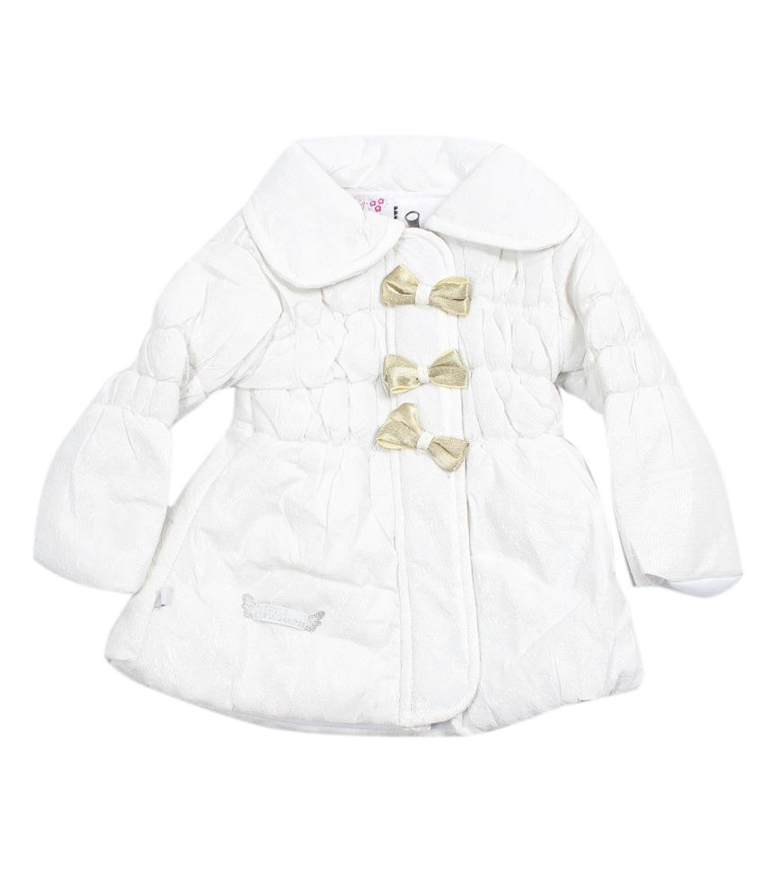 Little Kangaroos Casual White Jacket