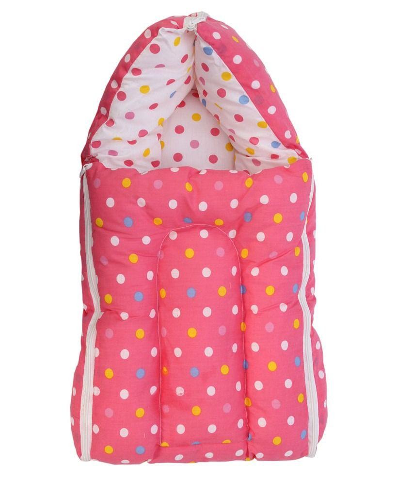 Glitz Baby 3 In 1 Baby Dot Design Pink Carrier Bed