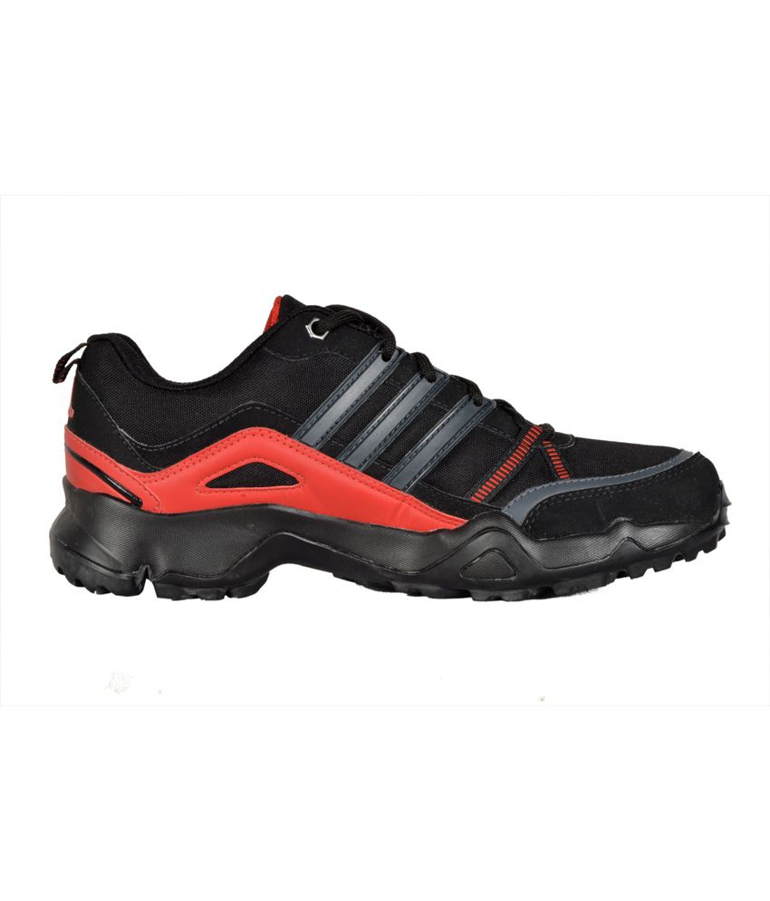 adidas woran black and red sports shoes