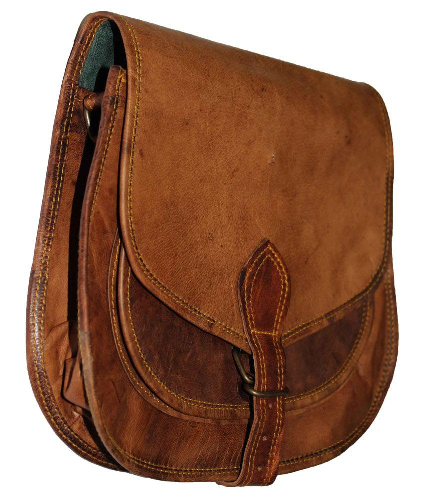 Arya Brown Leather Sling Bags - Buy Arya Brown Leather Sling Bags ...