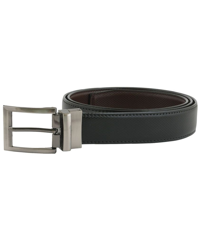 Saugat Traders Black Leather Formal Belts