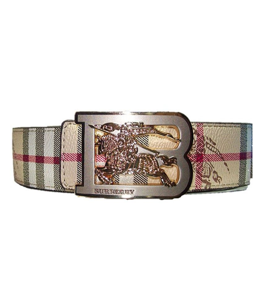 6f486054110 Burberry Beige Designer Belt With Golden Buckle  Buy Online at Low Price in  India - Snapdeal