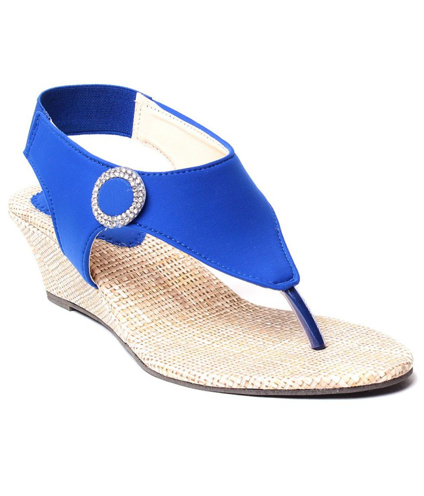Highstreet Blue Wedges Sandals