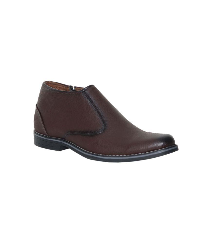 Leeport Brown Slip-on Formal Shoes