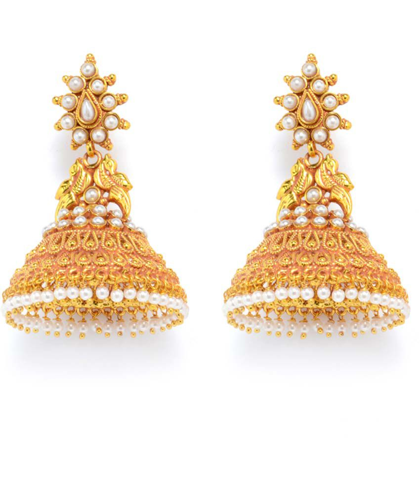 Alankruthi Gold Plated Brass And Copper Jhumki