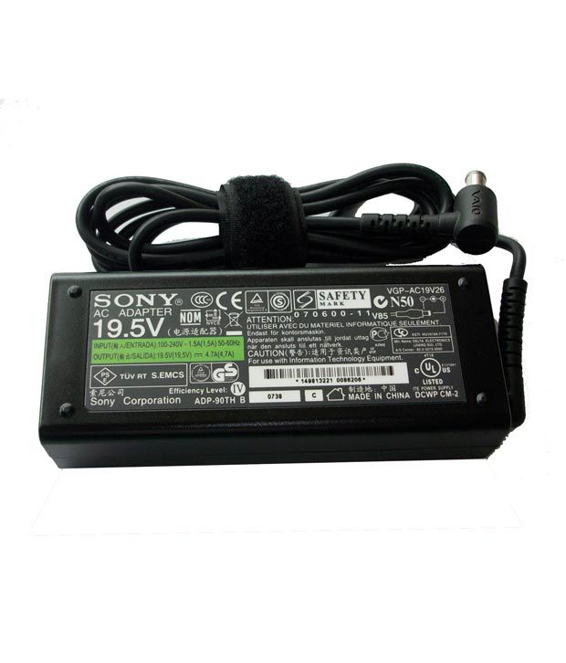 Arb Laptop Adapter For Sony Vpcej1l1e/w Vpcej1l1r/w 19.5v 4.74a 90w Connector Pin : 6.5 X 4.4 Mm
