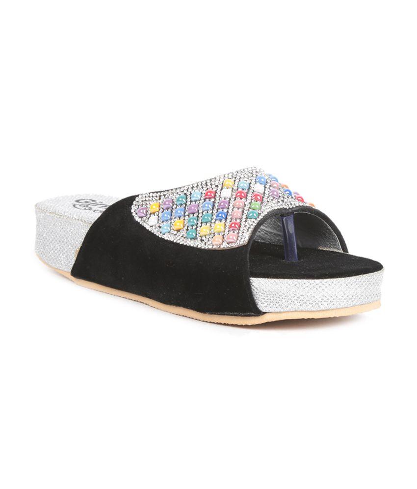 Girlish Footwear Black Platform
