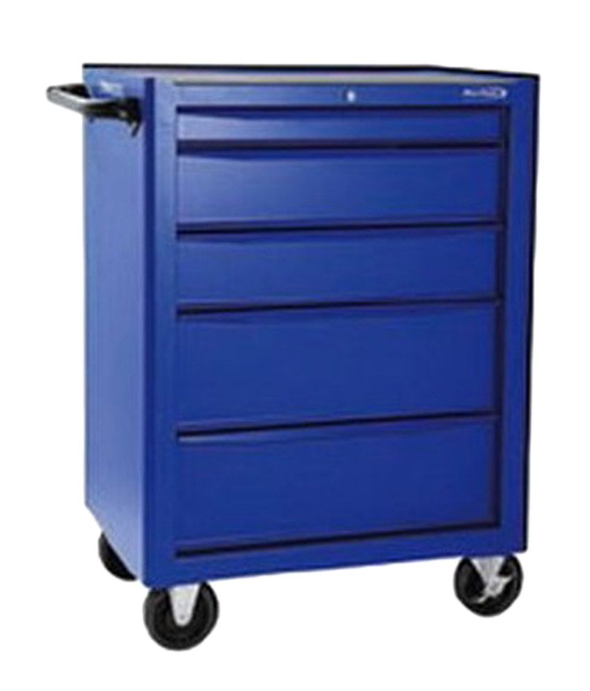 Blue Point Roll Cab 5 Drawer Steel Tool Box And Bags