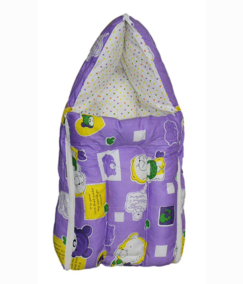 Orange And Orchid Baby Bedding Set Cum Sleeping Bag For Just Born