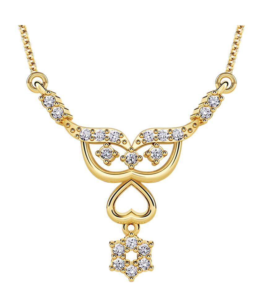 Caratlane Floral Design Gold Tanmaniya Pendant