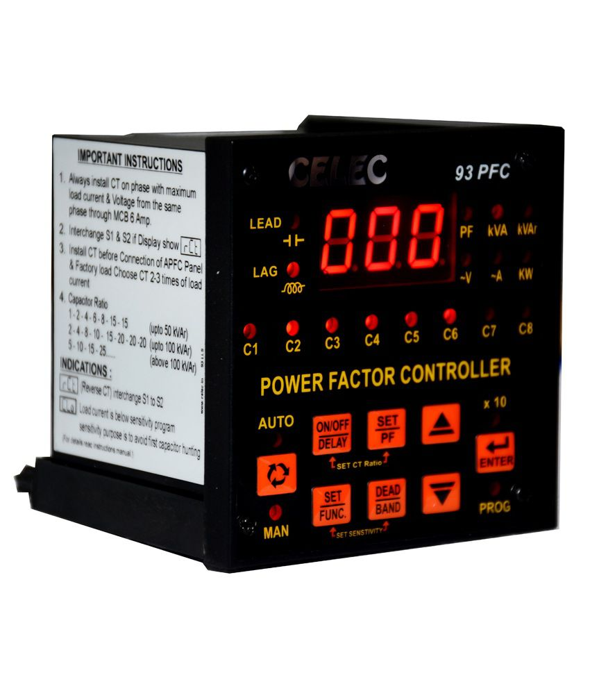 Buy Celec Power Factor Control Relay 93pfc 8 Online At Low Price In Current