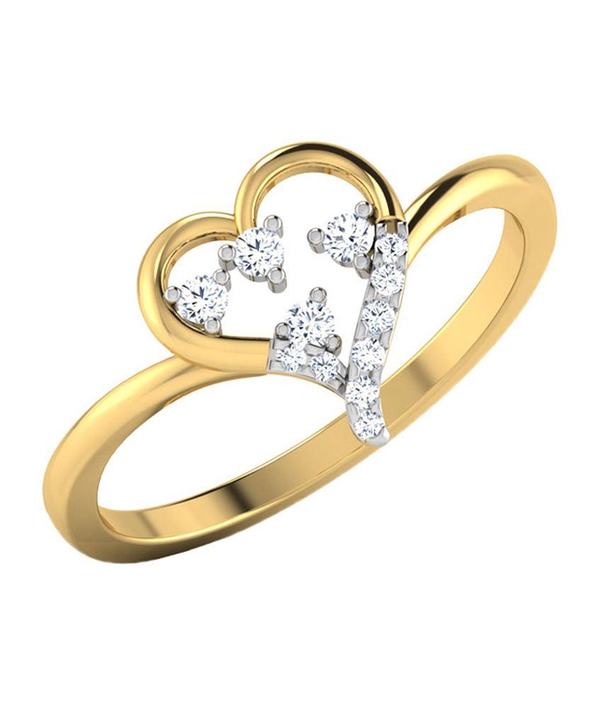 Caratlane Bejeweled Heart Ring