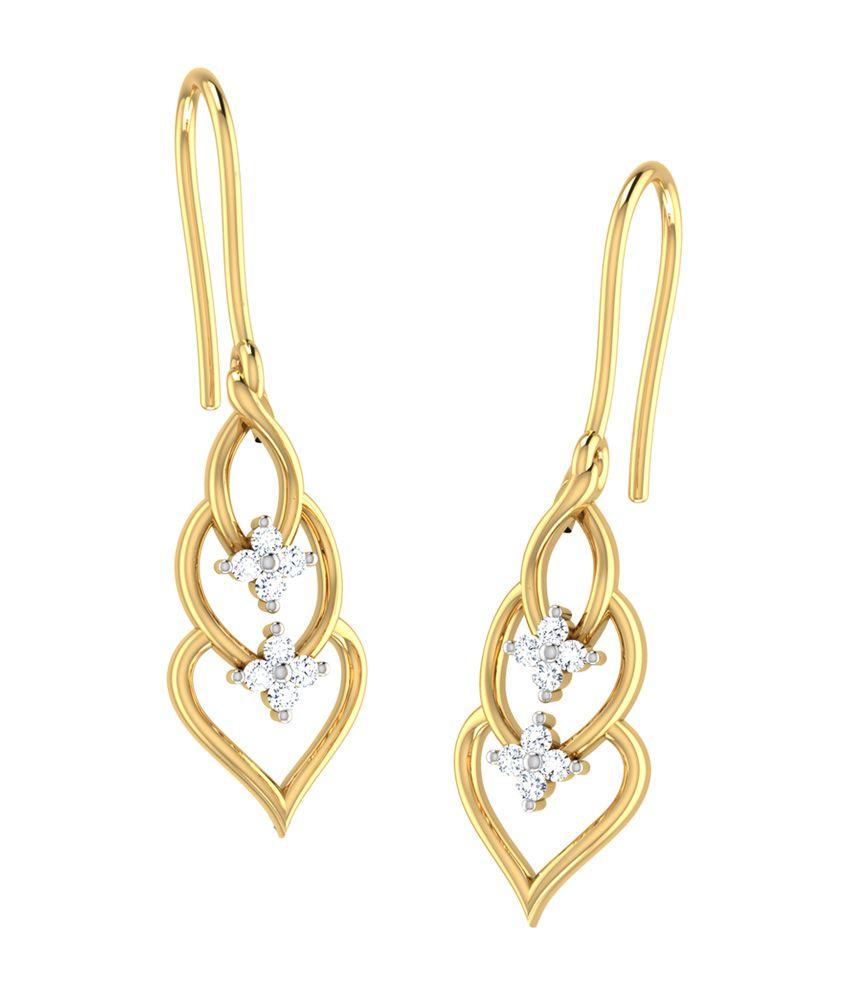 Opulent Blue Butterfly Drop Earrings Jewellery India
