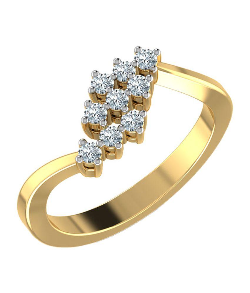 Caratlane Trio Diamond Rows Ring