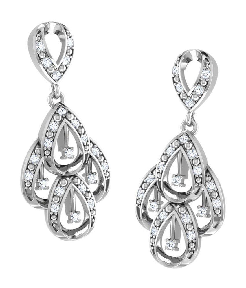 Caratlane Unique Design Drop Earrings