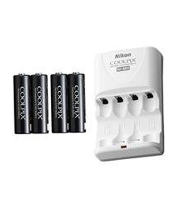 Nikon En-mh2-b4/mh-73 2 Hour Charger With 4 2300mah Ni-mh Aa Rechargeable Batteries