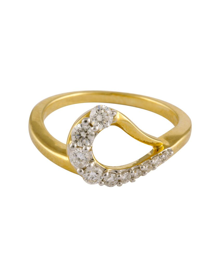 Blues Jewellery Daylight Bling 18kt Gold Ring