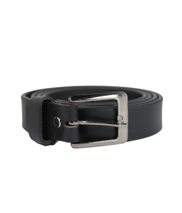 Hoa Black Mens Casual Leather Belt