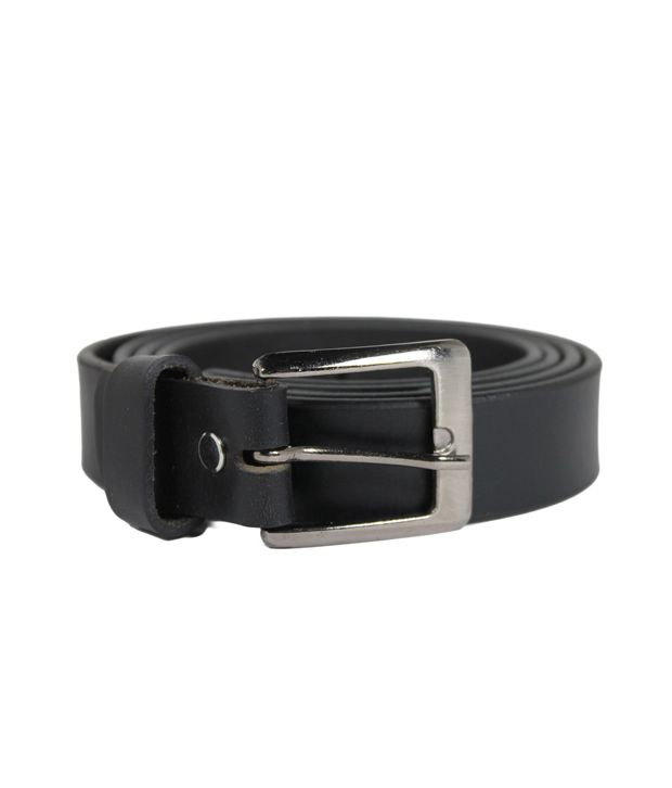 Hoa Black Mens Casual Leather Belt