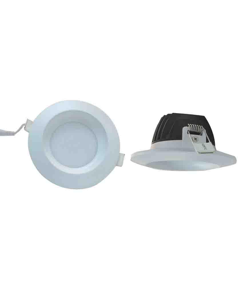 Italuxs White 6 Watt Led Concealed Down Light Round Buy Italuxs White 6 Watt Led Concealed