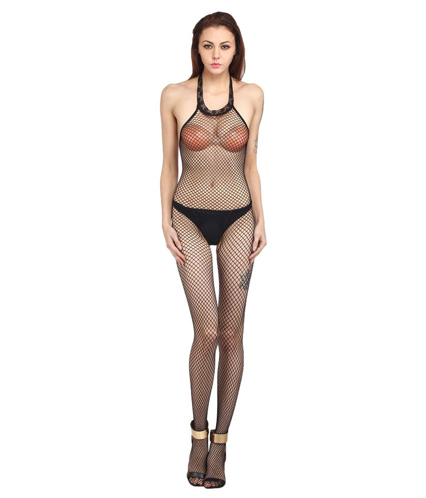 086101fed41 Buy Kamuk Life Black Fish Net Body Stocking Online at Best Prices in India  - Snapdeal