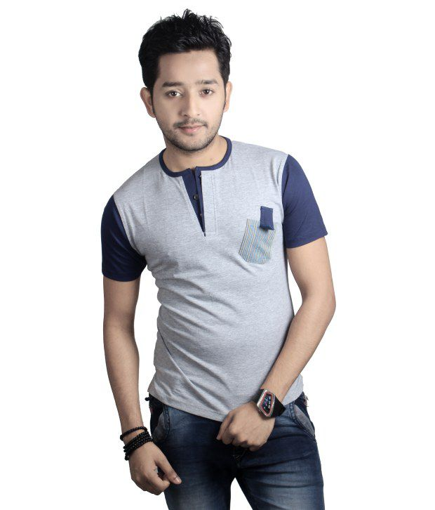 Spur Gray Henly Neck Fashion Tees
