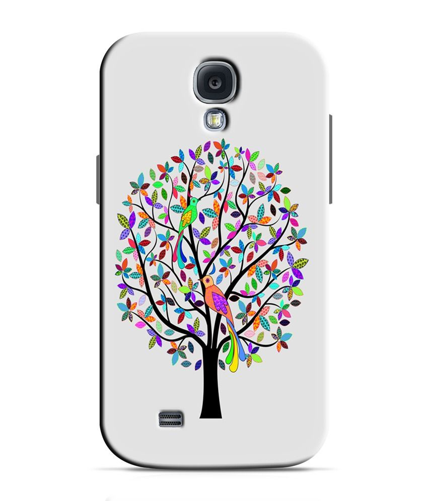 Artifa Peacock On Tree Colorful Hard Shell Back Cover For Samsung Galaxy S4