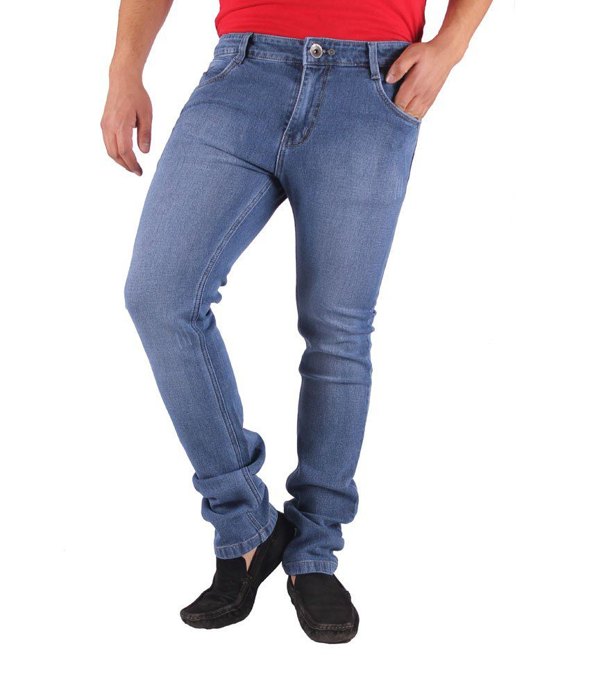 Gasconade Faded Blue Slim Fitted Jeans