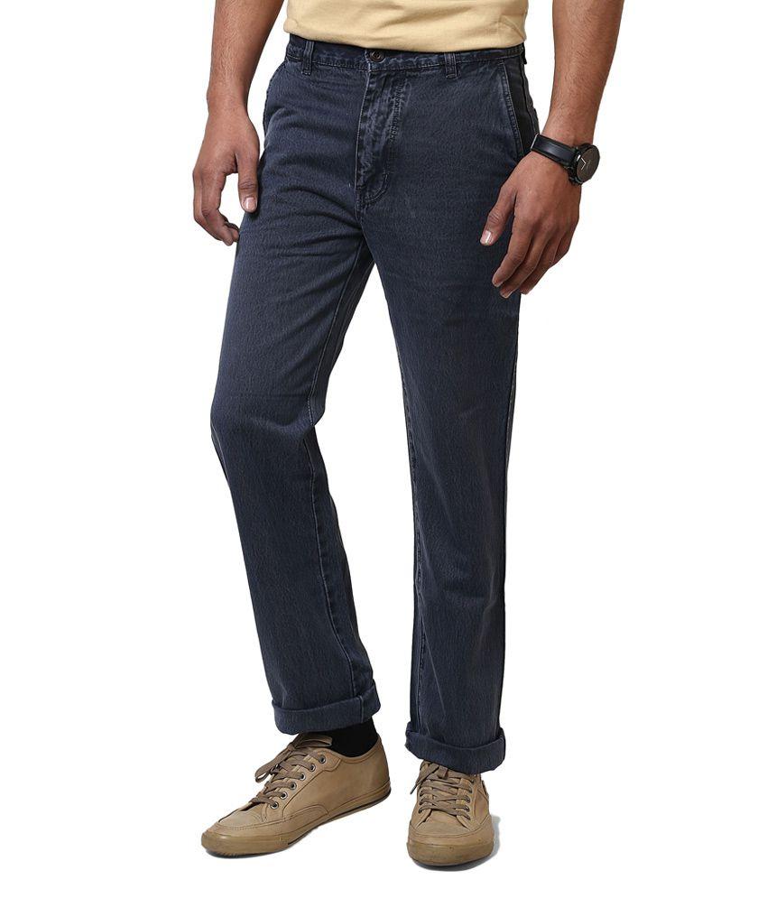 Jctex Gray Cotton Blend Cotton Blend Regular Fit Jeans For Men