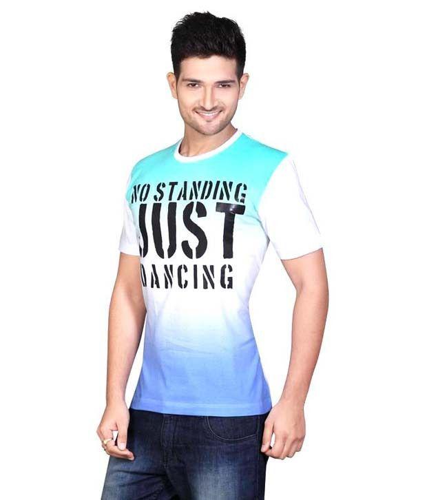Mahavir Creation Multicolor Round Neck Printed Cotton T-shirt