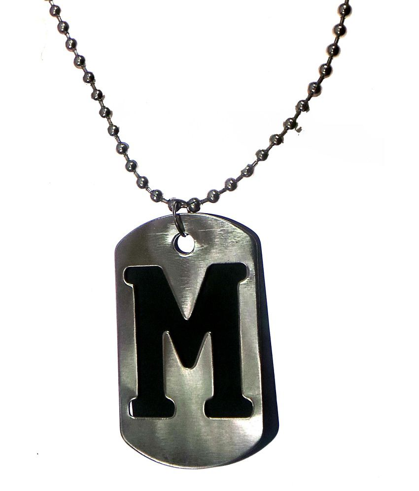 Modish Look M Name Locket Buy Online At Low Price In India Snapdeal - M