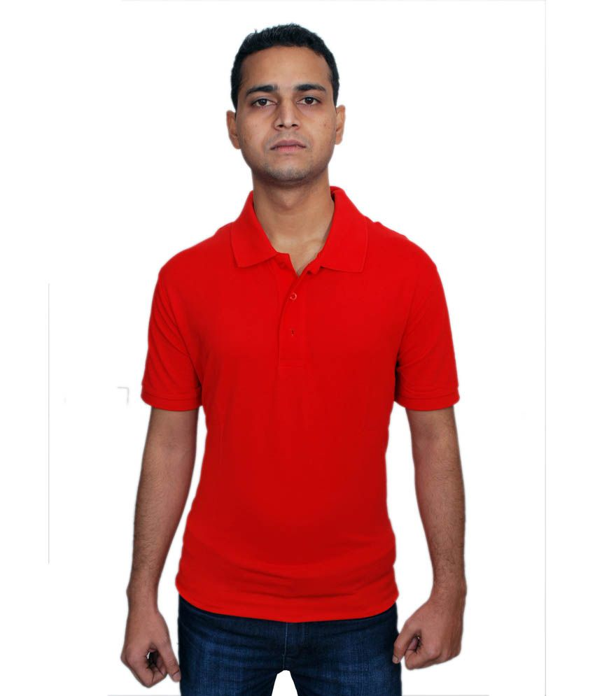 Puma Red Cotton Polo T-shirts