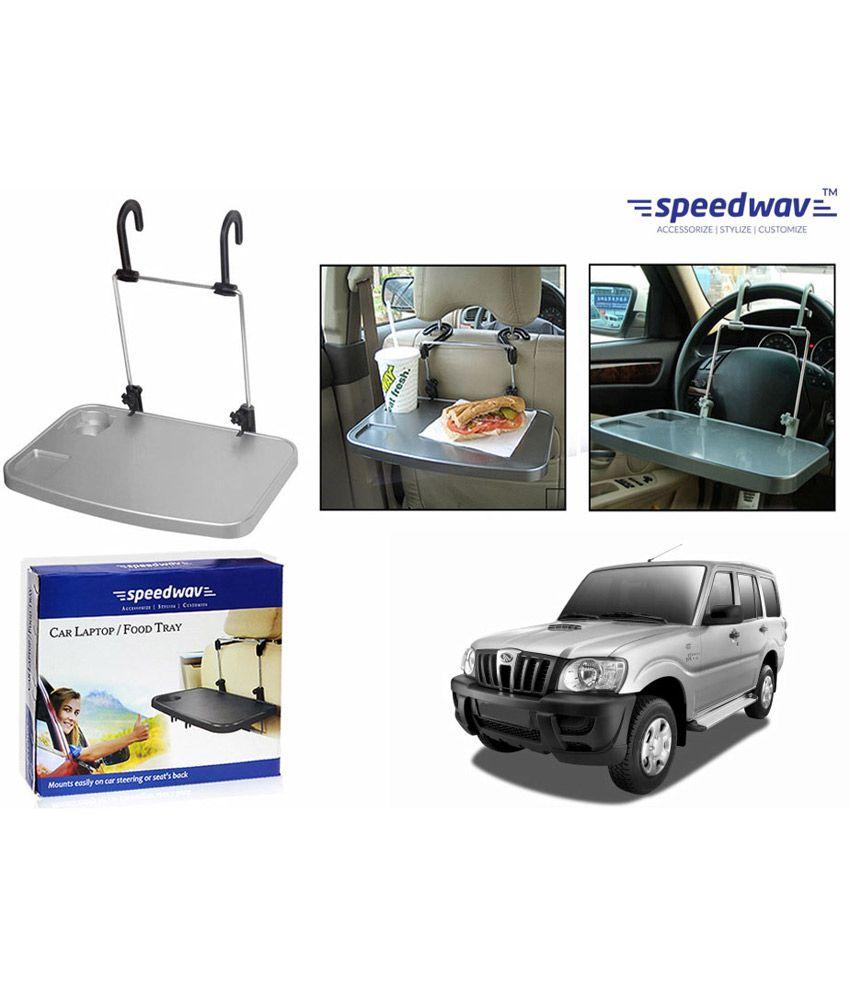 Speedwav Car Por Laptop Food Tray With Cup Holder-mahindra Scorpio Crdi
