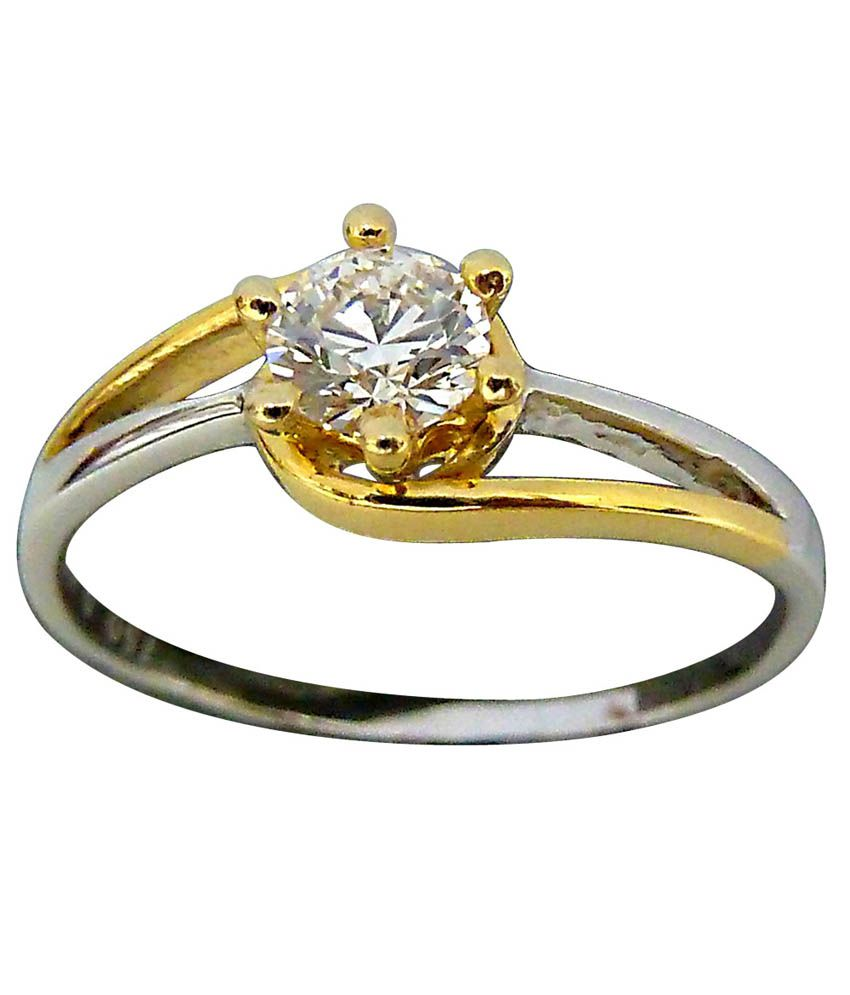 Surat Diamonds 18kt Gold 0.10 Cts M-i1 Solitaire Engagement Ring
