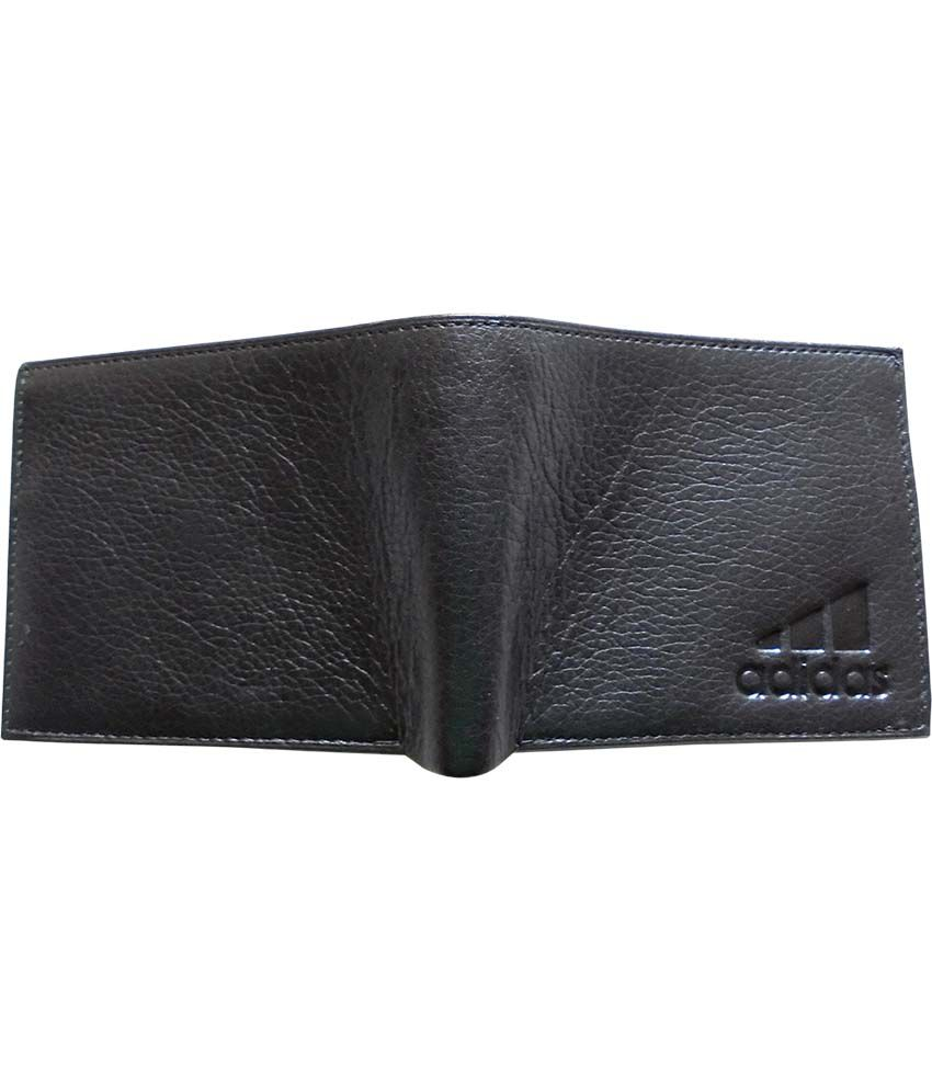 dc8d1447aea9 Adidas Black Leather Formal Wallet For Men: Buy Online at Low Price ...