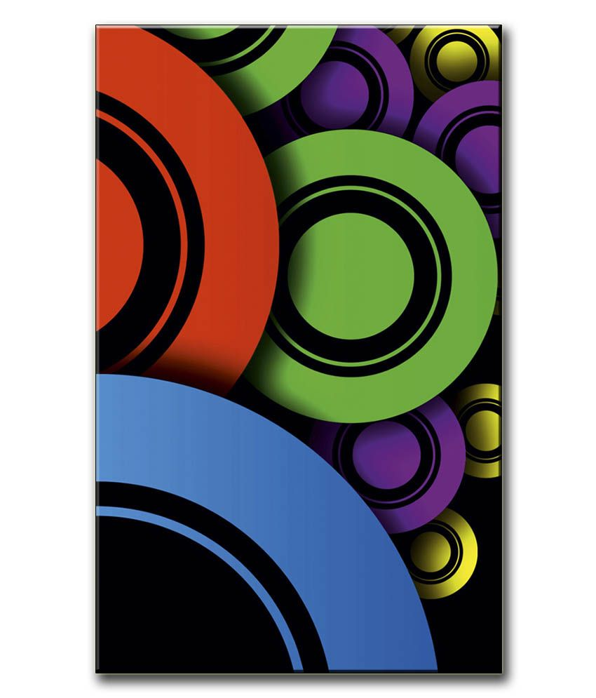 Anwesha's Gallery Wrapped Canvas Digital Print Wall Painting 12.5 X 20 Inch - Circles
