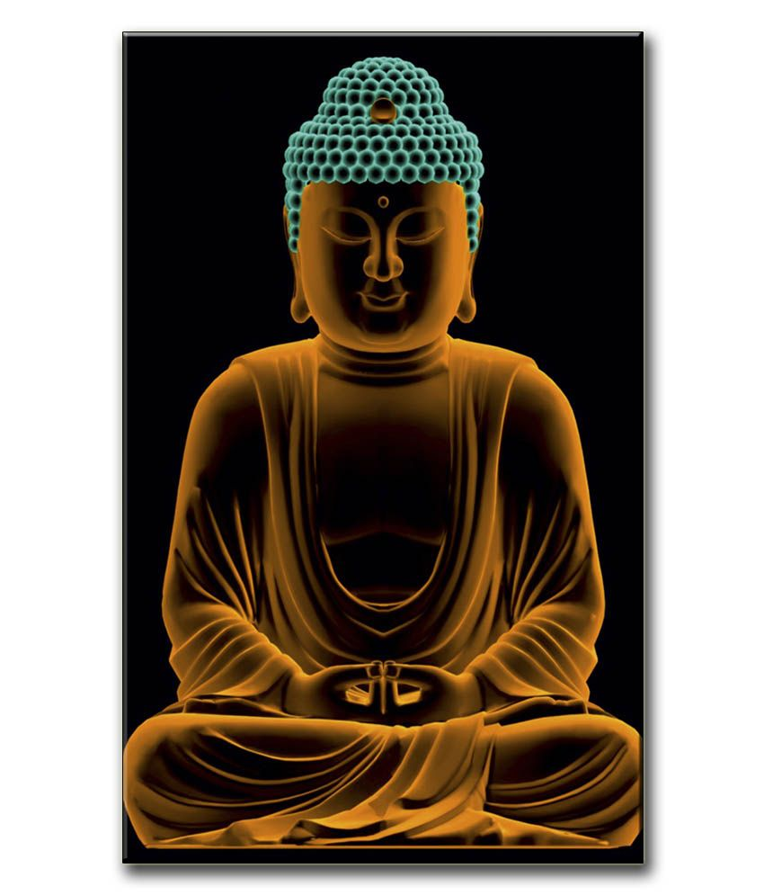 Anwesha's Gallery Wrapped Canvas Digital Print Wall Painting 12.5 X 20 Inch - Buddha