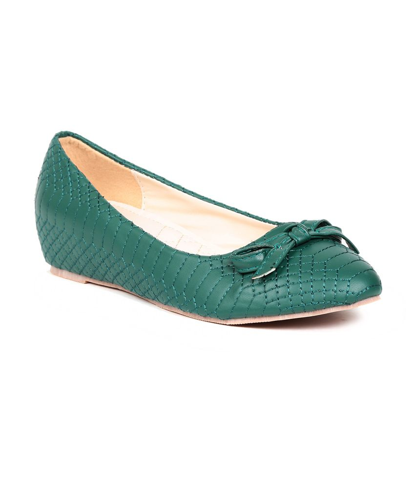 Footloose Footloose Green Flat Casual Ballerinas