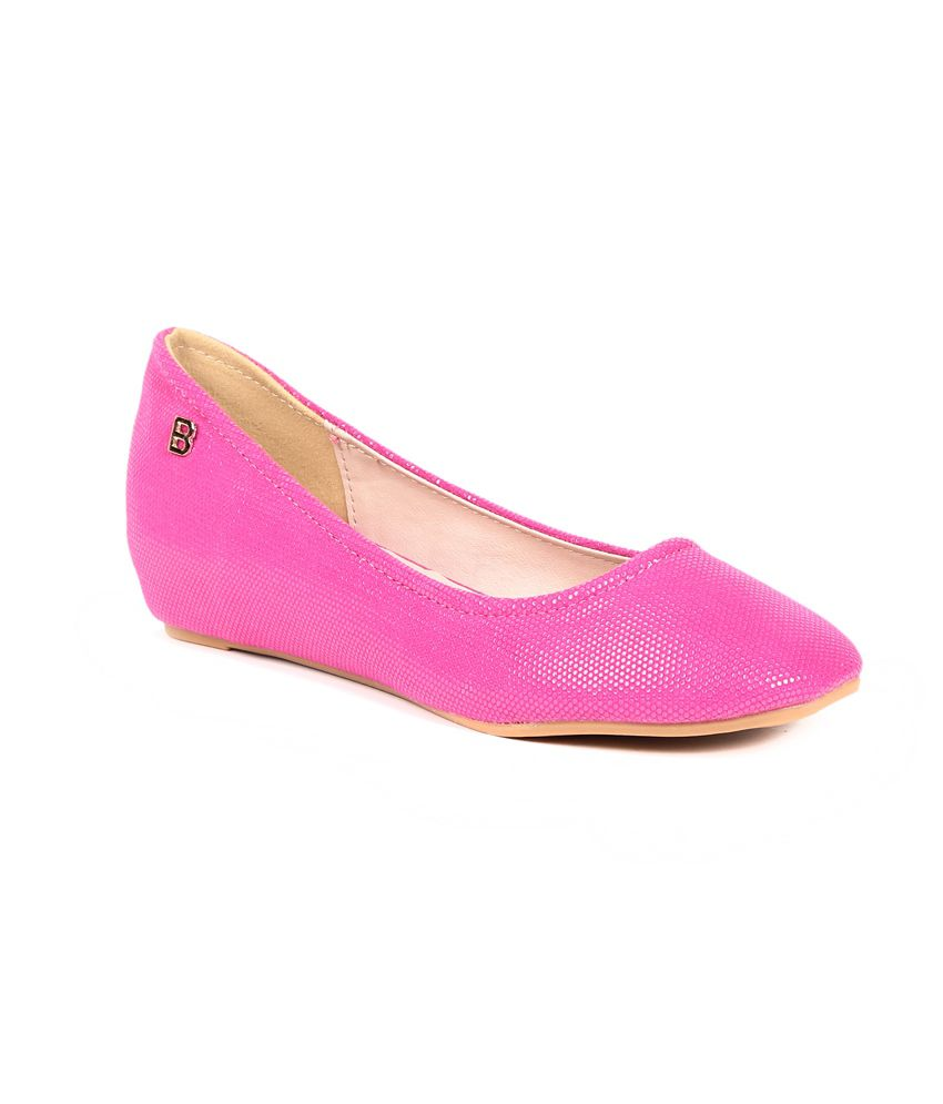 Footloose Footloose Pink Flat Casual Ballerinas (Multicolor)