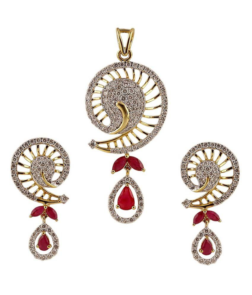 Ratnam real diamond pendant set buy ratnam real diamond pendant ratnam real diamond pendant set mozeypictures Gallery