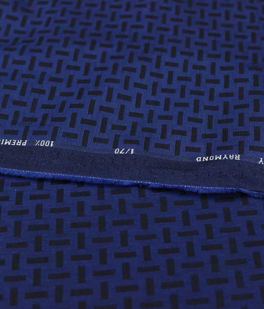 Shirt design price - Raymond Glossy Navy Blue Fancy Design Unstitched Shirt Piece