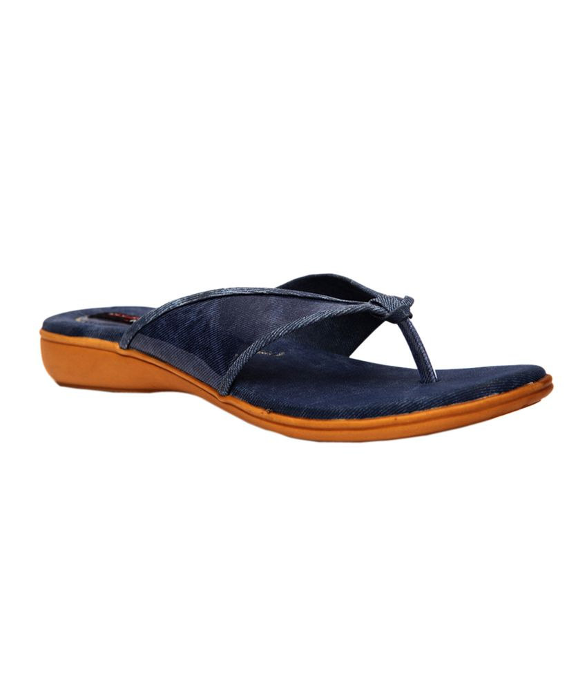 Trilokani Blue comfortable Slipper For Women