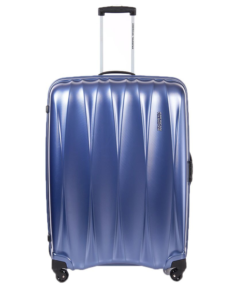 American Tourister Large (Above 70 Cm) 4 Wheel Hard Blue Arona ...